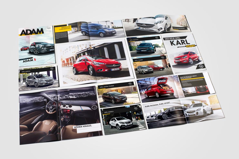 Übersicht Broschüren Opel