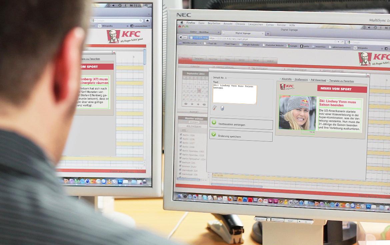 KFC Instore TV m&r Kreativ